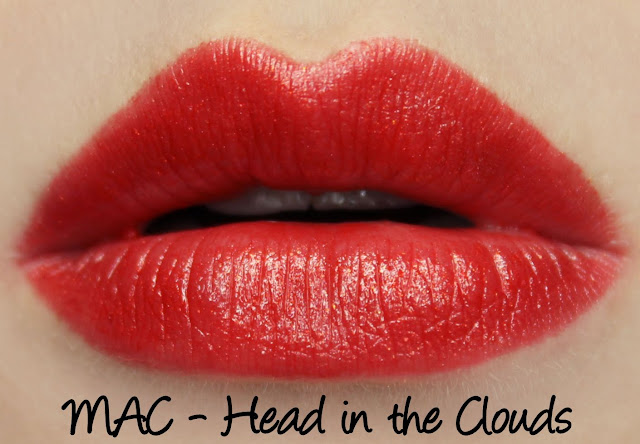 MAC Head in the Clouds Lipstick Swatches & Review