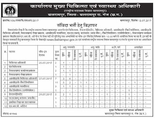 NUHM Balrampur CMHO RBSK Lab Technician, Medical Officer, Pharmacist, Dental Assistant Recruitment Notification 2017 36 Govt Jobs