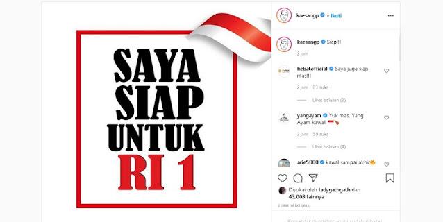 Hubungan Bapaknya Disebut-sebut Retak Dengan Megawati, Kaesang Declear Siap untuk RI 1