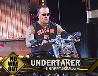 WWE / WWF No Way Out 2002 - The Undertaker rides into battle against The Rock