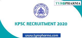 KPSC Pharmacist jobs Recruitment 2020