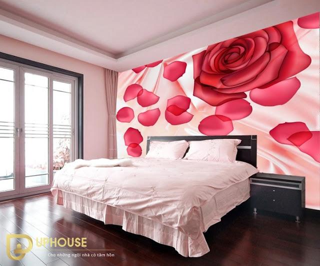 Phòng ngủ màu hồng trắng 09