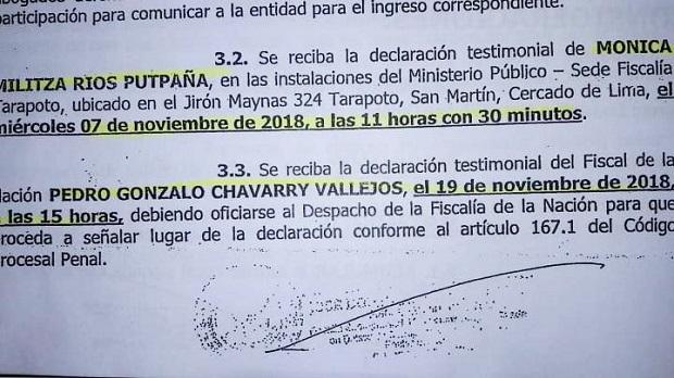 Fiscal Domingo Pérez cita a Chávarry para el 19 de noviembre por Keiko Fujimori