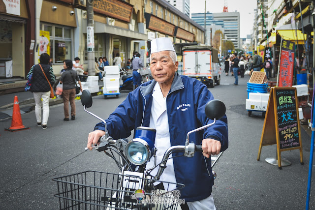 The Japan's old man with white hair