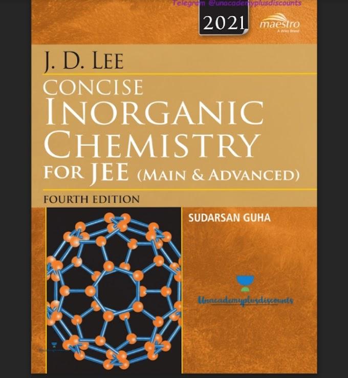 Jd Lee Inorganic Chemistry PDF Download