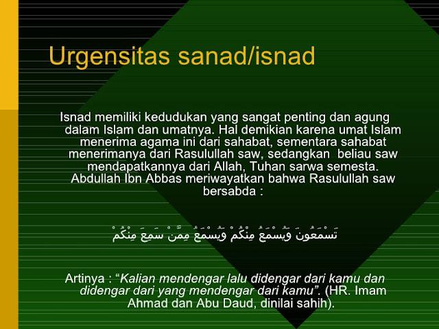 Sanad ilmu dalam islam
