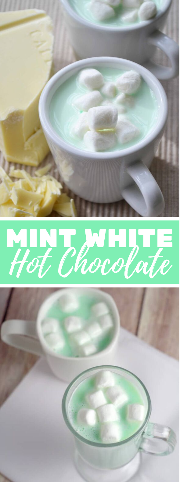 Mint White Hot Chocolate #drinks #homemade