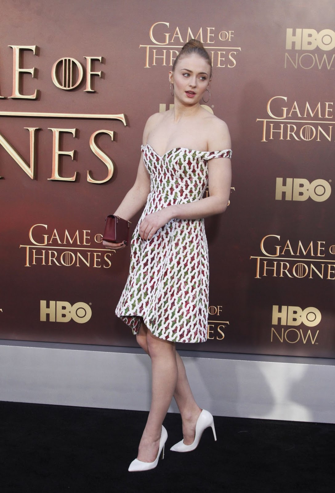 Sophie Turner at the 'Game of Thrones' Season 5 premiere in San Francisco