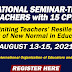 International Seminar-Training for Teachers with 15 CPD Units (Aug. 13-15, 2021) Register Here