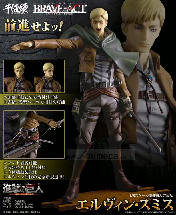 ERWIN SMITH BRAVE-ACT FIGURE Shingeki no Kyojin SENTINEL