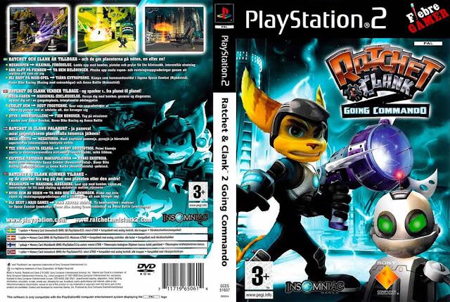 Descargar Ratchet & Clank - Going Commando ps2 iso NTSC-PAL. (Ratchet & Clank 2: Locked and Loaded en la mayoría de regiones europeas, Ratchet & Clank 2: Totalmente a tope en España, y Rachetto & Kuranku 2: GaGaGa! Ginga no Komandossu en Japón) es un videojuego de acción en tercera persona exclusivo para la consola PlayStation 2.