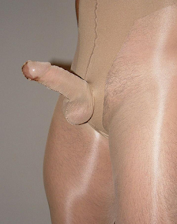 in cummin Pantyhose pussy on cock