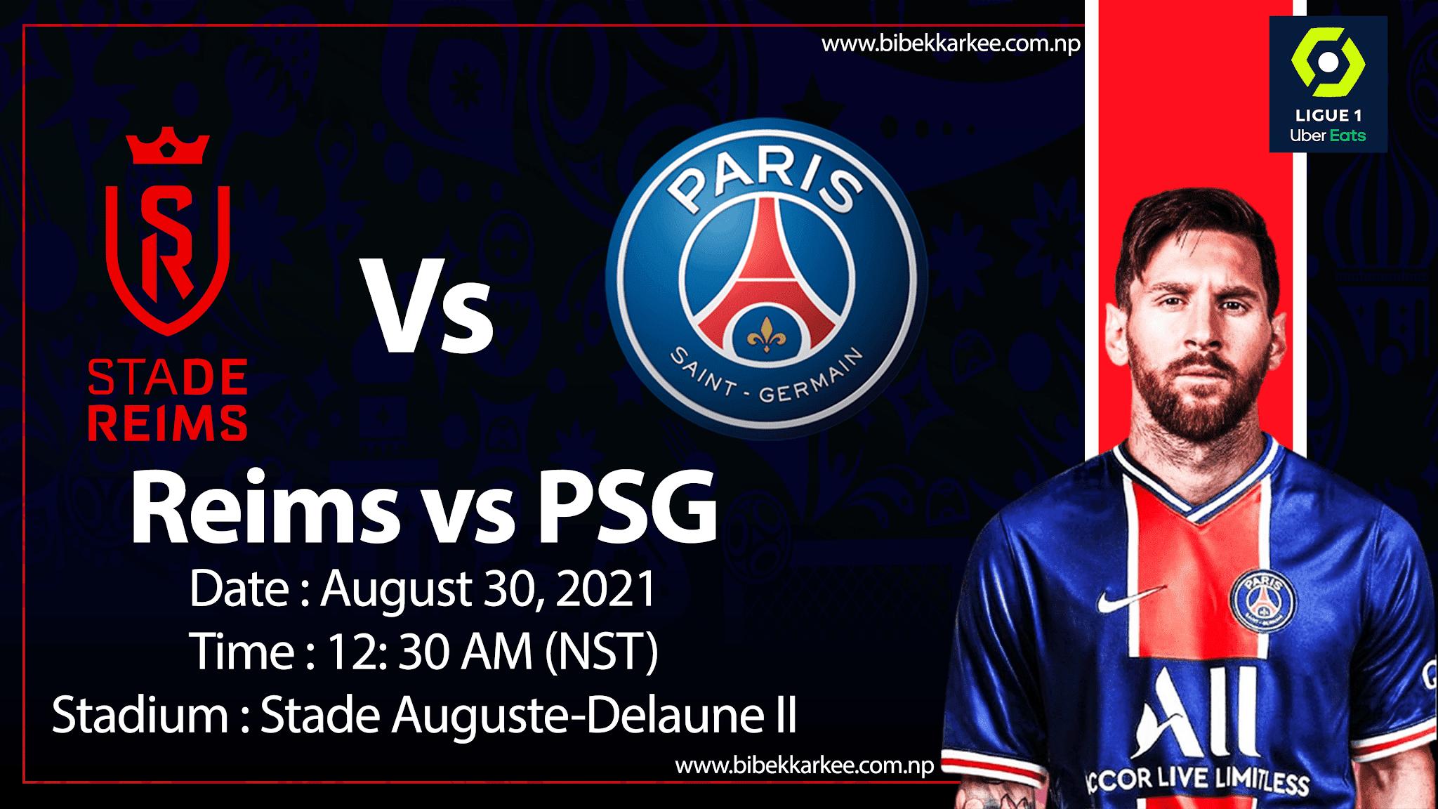 Reims vs PSG live