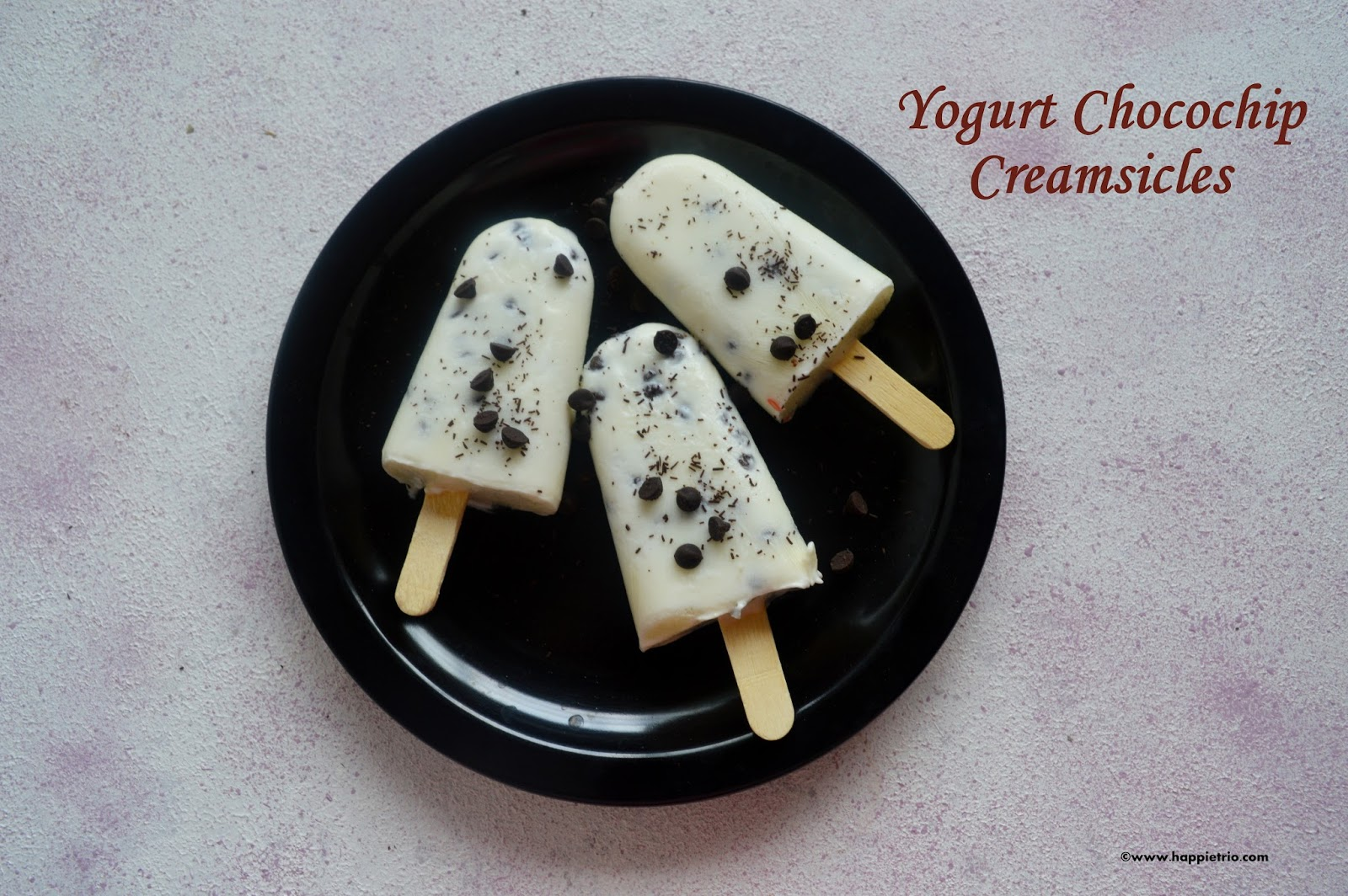 Yogurt Chocochip Popsicles