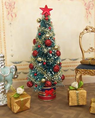 """""""minilys miniatures"""" """"arbol de navidad"""" """"regalos"""" 1:12"""