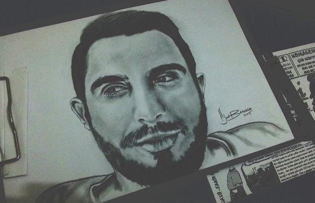 karakalem portre çizimi
