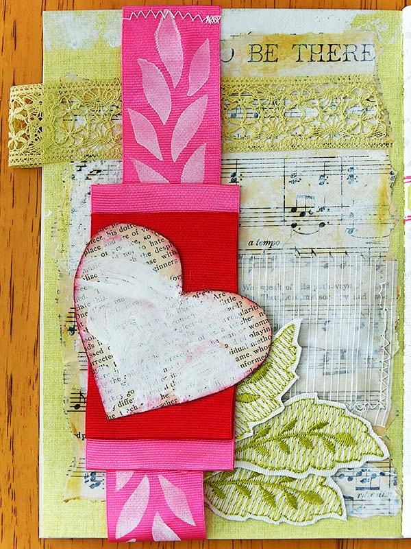 Page of Spring Mini-Album by Jeanne Selep