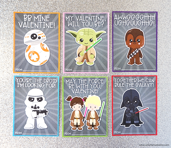 Free Printable Star Wars Valentines