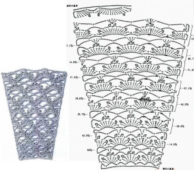 узоры для вязаной юбки