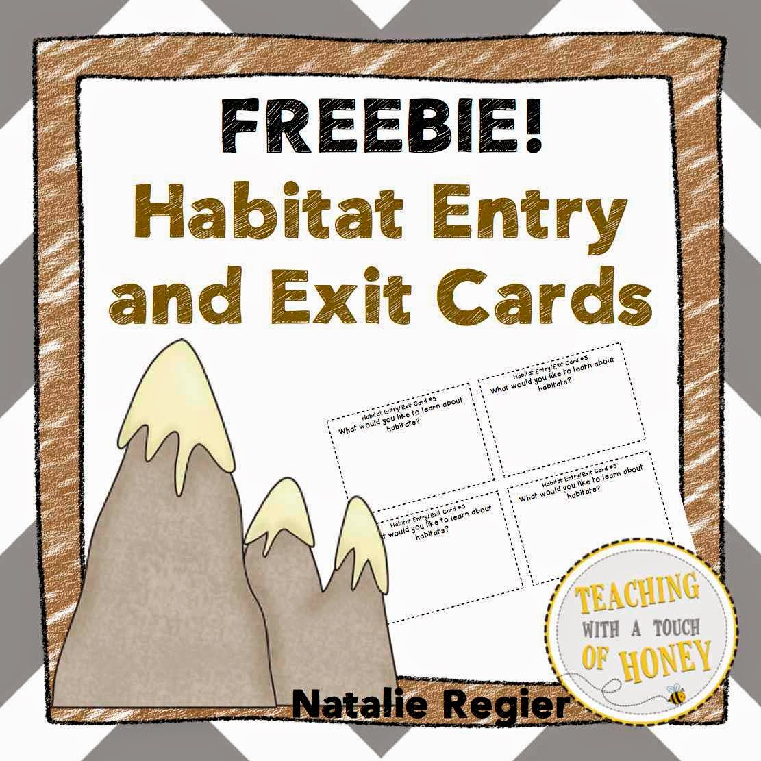 Classroom Freebies Too Habitat Entry And Exit Cards Freebie