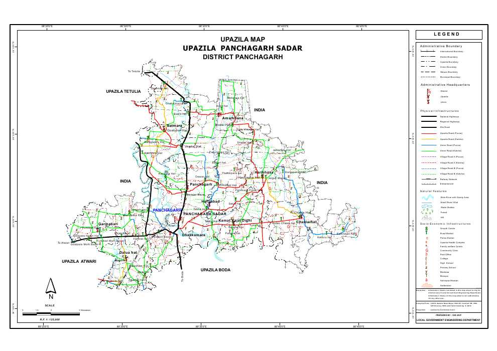 Panchagarh Sadar Upazila Map Panchagarh  District Bangladesh