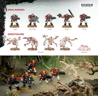 Exploradores Marines Espaciales vs. Genestealers
