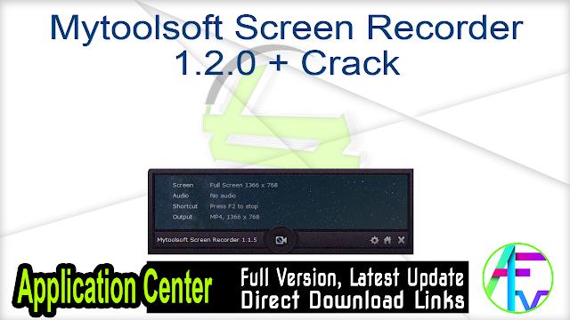 Mytoolsoft Screen Recorder 1.2.0 + Crack