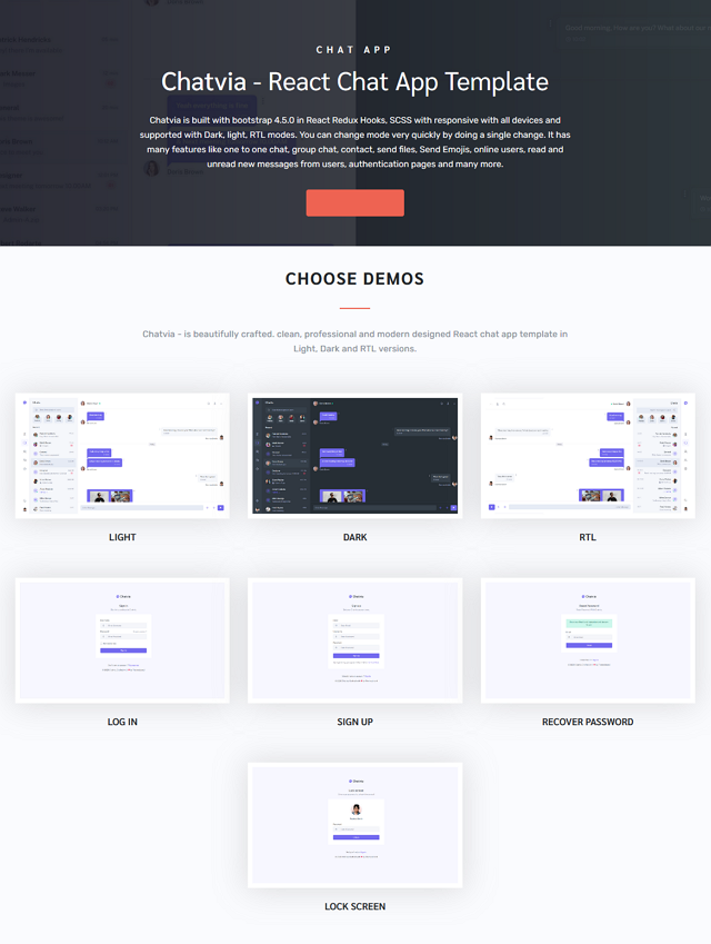 Responsive Chat App Template