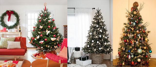 Süslenmiş Yılbaşı Ağacı 10 Örnek
