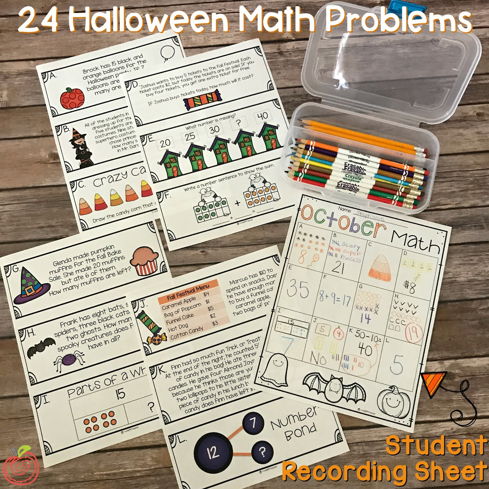 October Math Halloween Math Problems