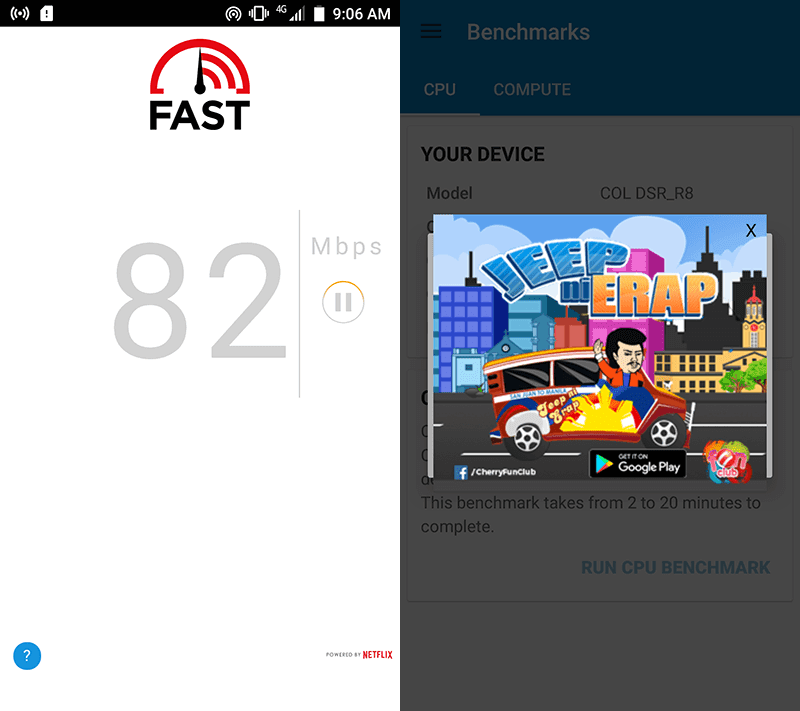 Smart's speedy LTE in our area and the ever annoying ads