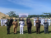 PANGKALAN TNI AL NIAS MENGGELAR UPACARA HUT TNI KE 76 TAHUN 2021