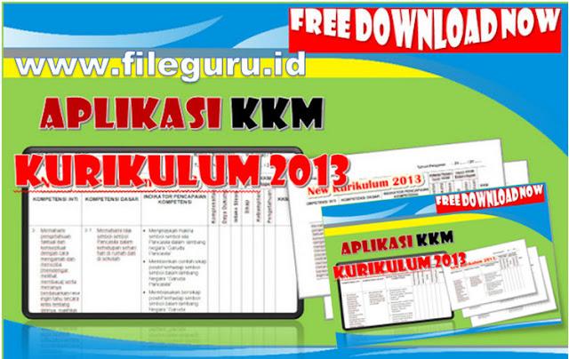 [Download] Aplikasi KKM Kurikulum 2013 Baru Jenjang Sekolah Dasar