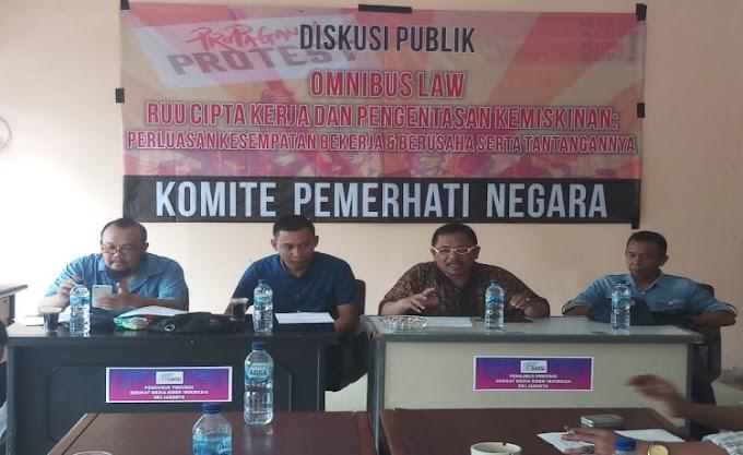 Menyoal Omnibus Law, Komite Pemerhati Negara Gelar Diskusi Publik