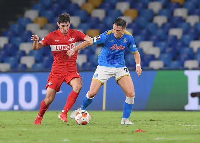 ملخص اهداف مباراة نابولي وسبارتاك موسكو (2-3) الدوري الاوروبي