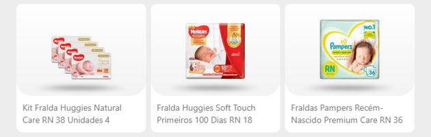 Fraldas RN - Drogarias Pacheco