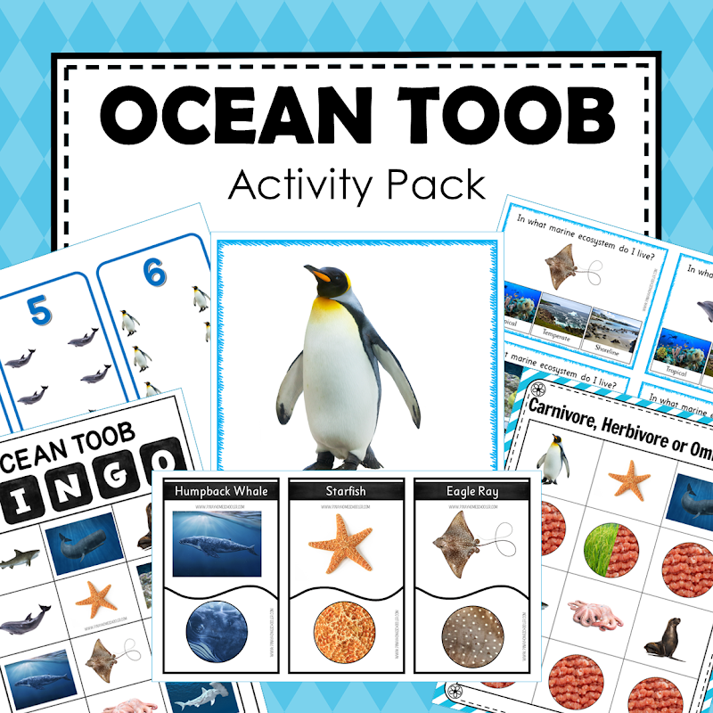 Ocean Theme Toob Printable Learning Materials