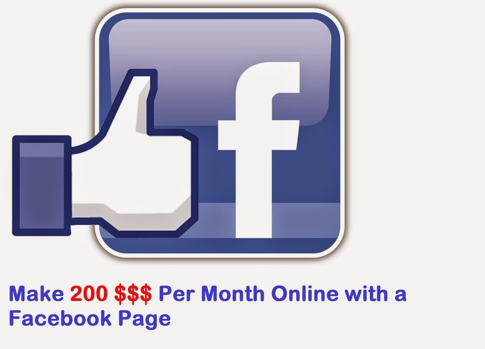 make money online with a facebook page