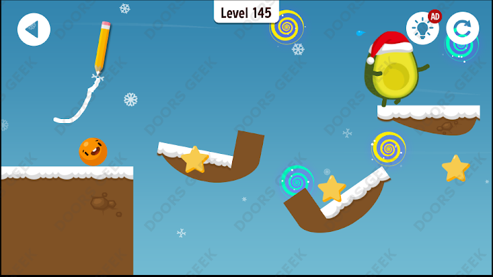Where's My Avocado? Level 145 Solution, Cheats, Walkthrough, 3 Stars for Android, iPhone, iPad and iPod