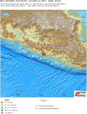 7.0-magnitude quake rocks Mexico near Acapulco