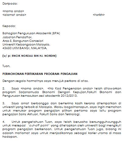Contoh Surat Rasmi Tukar Nama - 13 - Gontoh