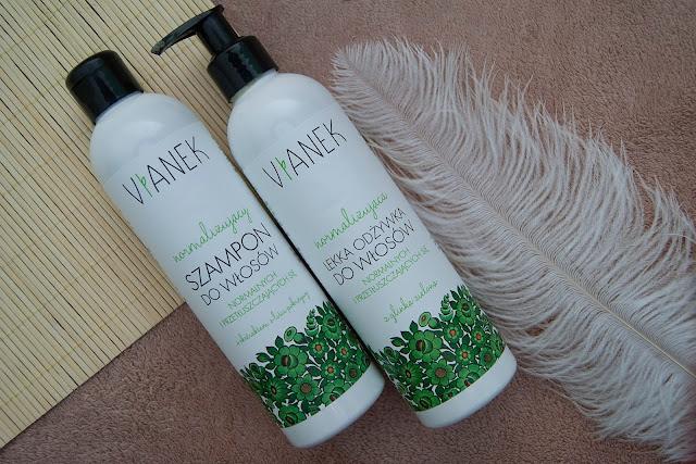 [375.] Seria normalizująca do włosów, Vianek - nie tylko do przetłuszczającej się głowy ale również na wzmocnienie cebulek!