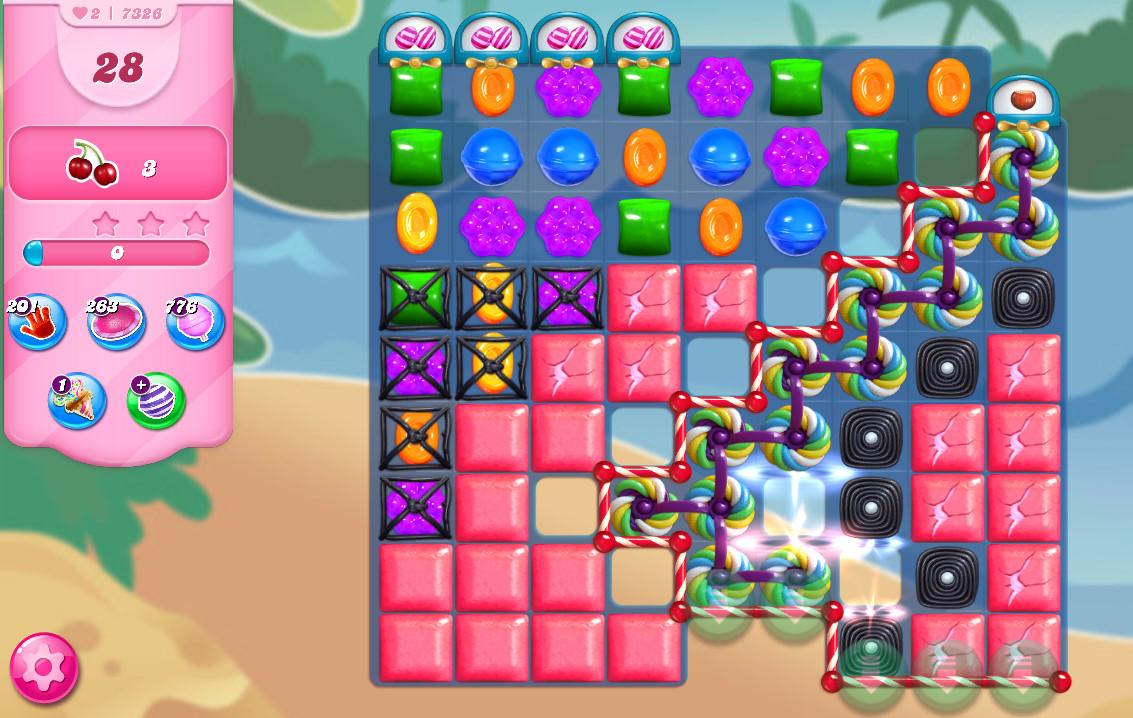 Candy Crush Saga level 7326