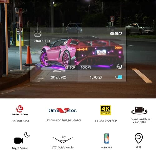 Review Lifechaser LC63T 4K Dual Dash Cam Car Camera