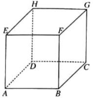 Perhatikan gambar kubus ABCD.EFGH di bawah ini. Tentukan ...