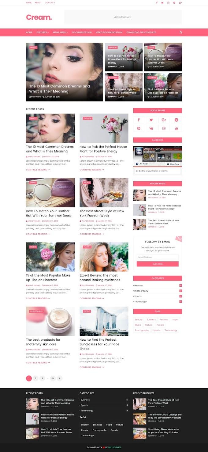 Inilah Template Cantik untuk Blog Fashion Kamu