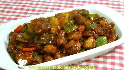 Receta de pollo agridulce al estilo chino