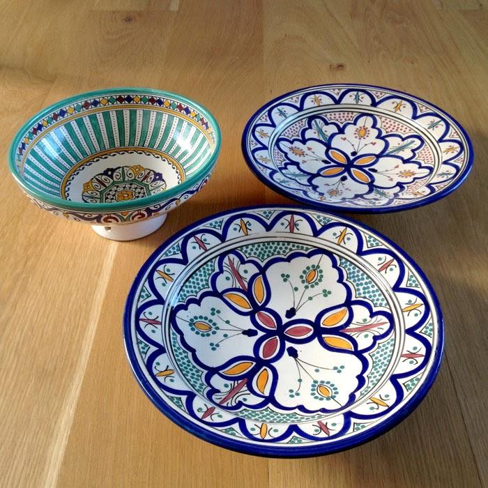 モロッコのフェズで買ったかわいい模様の陶器のお皿と価格