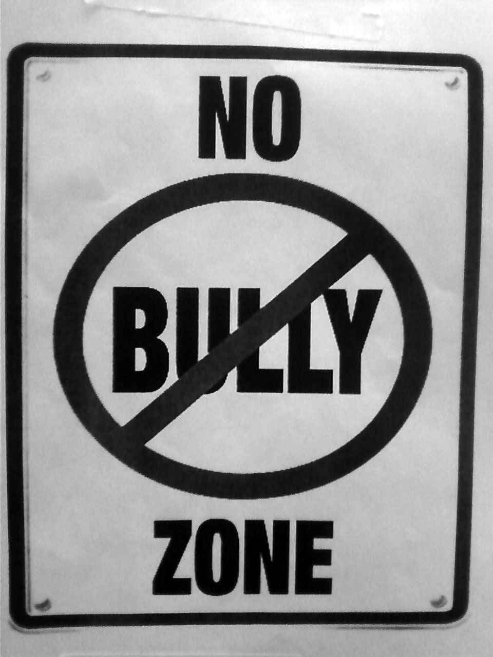 stop bullying black and white