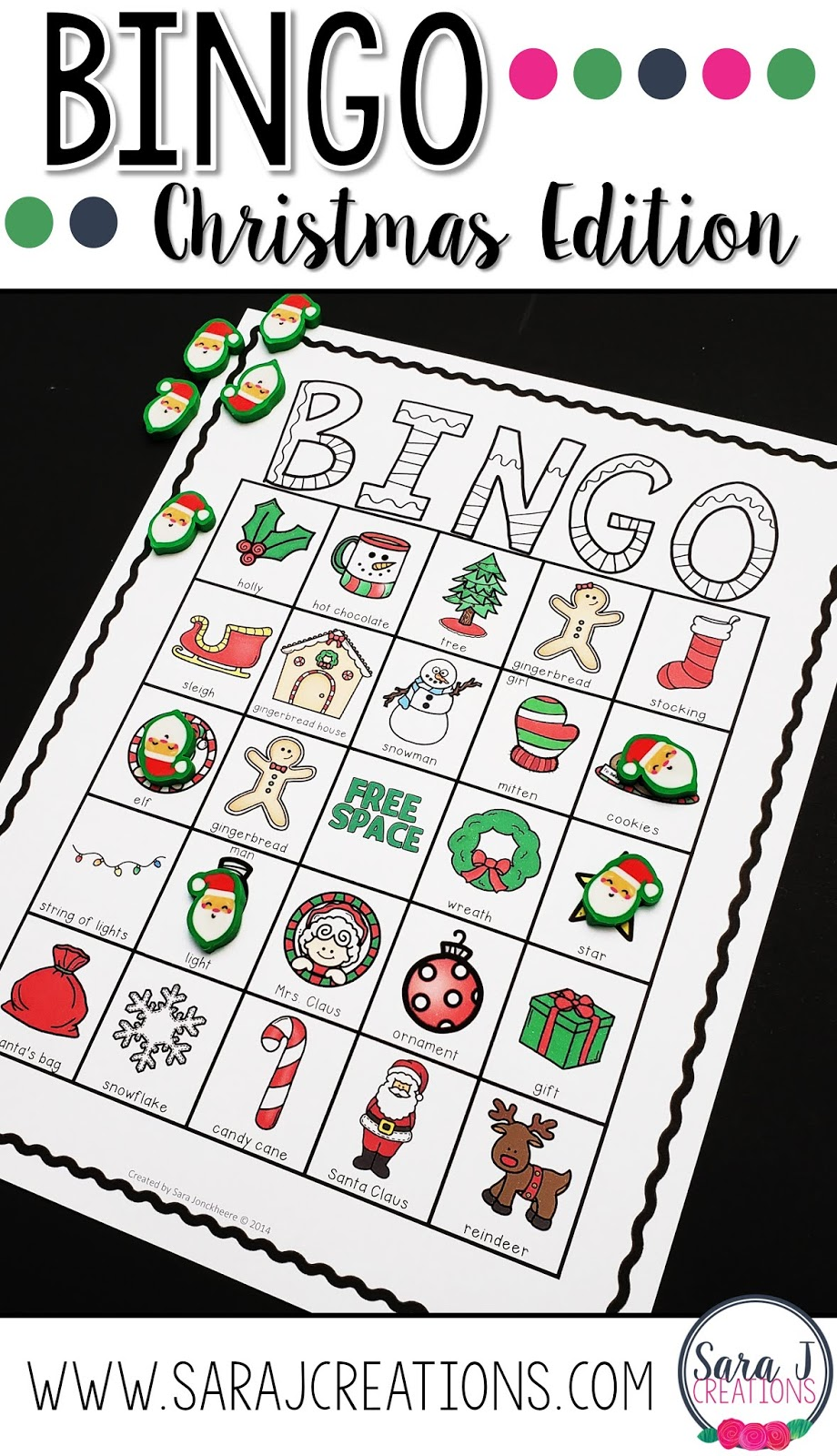 Christmas bingo is the perfect printable fun for a large group. With 30 different game boards in black and white and color, you can easily print and play with a large group. This is great for kids during a holiday party.